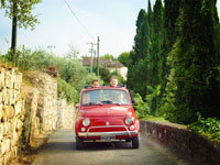 Shared Tour:The Legendary Fiat 500 Tour on Florence and the Chianti Hills